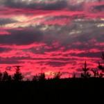Solnedgång över Särvdalen